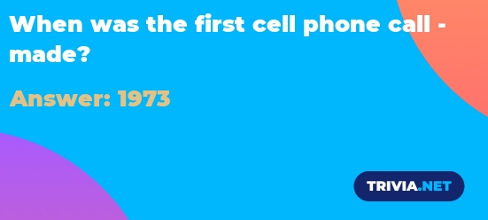 Cell first when phone was made the call History of